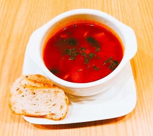 有機野菜のミネストローネスープ