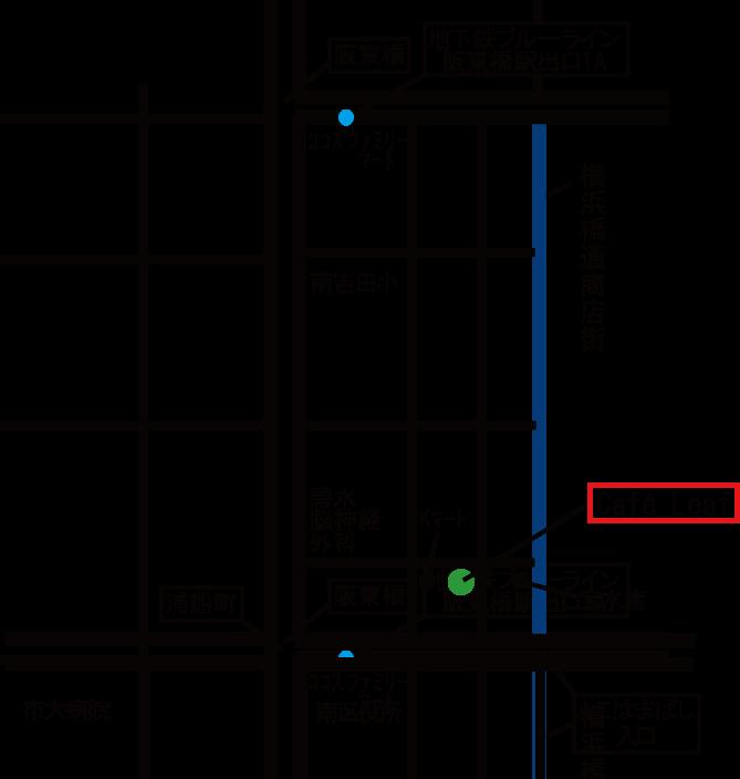 Café Leaf アクセスマップ