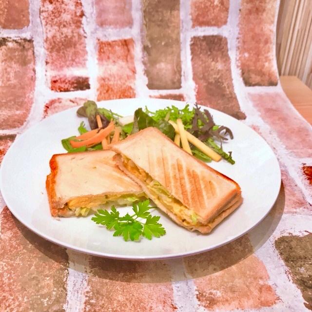 ホットサンド&季節の日替わりスープ、サラダSet
